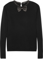 Pamplune bow tie sweater by Maje at Net A Porter