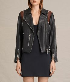 Panel Balfern Leather Bomber Jacket by All Saints at All Saints