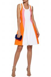 Paneled crepe mini dress by Emilio Pucci at The Outnet