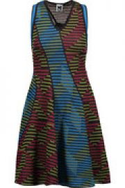 Paneled crocheted wool-blend mini dress at The Outnet