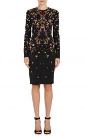 Pansy-Print Jersey Long-Sleeve Dress by Givenchy at Barneys
