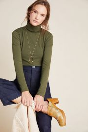 Paola Ribbed Turtleneck at Anthropologie