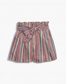 Paperbag Shorts in Rainbow Stripe at Madewell