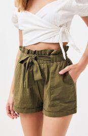 Paperbag waist shorts at Pacsun