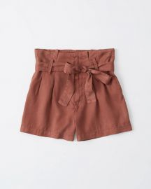 Paperbag waist shorts at Abercrombie
