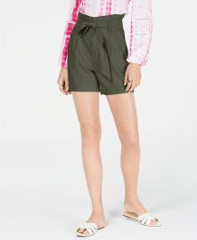 Paperbag waist shorts by INC at Macys
