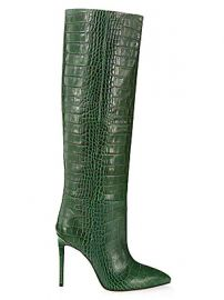 Paris Texas - Knee-High Croc-Embossed Leather Boots at Saks Fifth Avenue