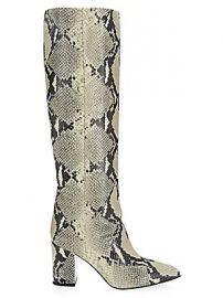 Paris Texas - Knee-High Python-Embossed Leather Boots at Saks Fifth Avenue