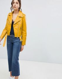 Parisian Leather Look Jacket at Asos