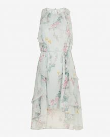 Pariz Sorbet Dip Hem Ruffle Dress by Ted Baker at Ted Baker
