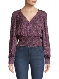 Parker - Matilda Faux Wrap Printed Top at Saks Fifth Avenue