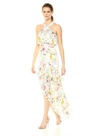Parker Fillipa Sleeveless Full Length Silk Dress at Amazon