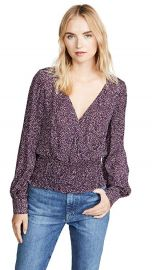 Parker Matilda Floral-Print V-Neck Blouse Women at Bloomingdales