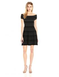 Parker Women s Tricia Knit Dress black at Amazon
