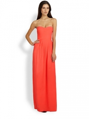 Parker - Bayou Silk Strapless Maxi Dress at Saks Fifth Avenue