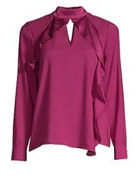Parker - Ciani Cascading Ruffle Blouse at Saks Fifth Avenue
