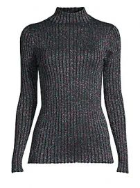 Parker - Dolce Ribbed Lurex Turtleneck at Saks Fifth Avenue