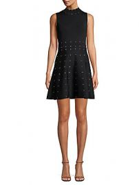Parker - Joy Studded Flare Dress at Saks Off 5th