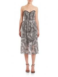 Parker - Leaf-Print Dress at Saks Off 5th