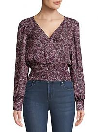 Parker - Matilda Faux Wrap Printed Top at Saks Off 5th