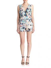 Parker - North Floral-Print Silk Short Jumpsuit at Saks Fifth Avenue