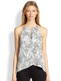 Parker - Sheila Printed Silk Tiered Crossover Top at Saks Fifth Avenue