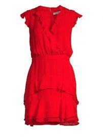 Parker - Tangia Silk Ruffle Dress at Saks Fifth Avenue