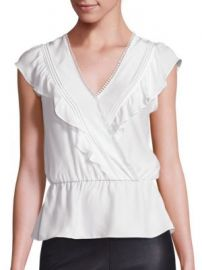 Parker - Taylan Silk Ruffle Top at Saks Off 5th