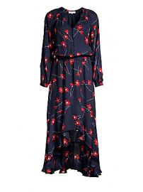Parker - Verity Silk Blend High-Low Shirtdress at Saks Fifth Avenue