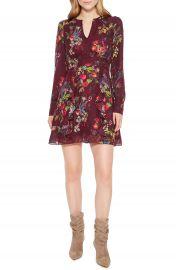 Parker Brooke Ruffle Silk Blend Dress   Nordstrom at Nordstrom