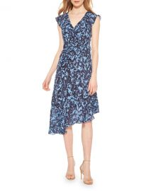 Parker Brynlee Printed Asymmetrical Midi Dress at Neiman Marcus