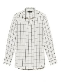 Parker Fit Windowpane Shirt at Banana Republic