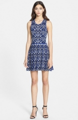 Parker Kaitlyn Knit Fit andamp Flare Dress at Nordstrom