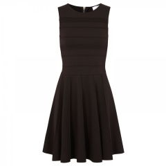 Parker Lacey Stretch Fit andamp Flare Dress in black at Nordstrom