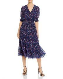 Parker Midnight Guava Smocked Waist Midi Dress - 100  Exclusive  Women - Bloomingdale s at Bloomingdales