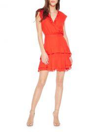 Parker Tangia V-Neck Sleeveless Ruffle Dress at Neiman Marcus