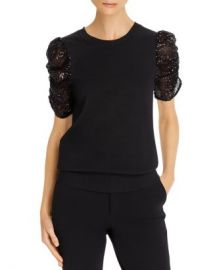 Parker Tash Sequined-Sleeve Top Women - Bloomingdale s at Bloomingdales
