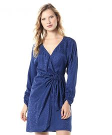 Parker Women Linda Long Sleeve Wrap Front Party Dress at Amazon