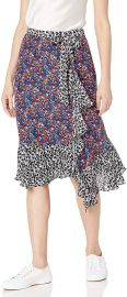 Parker Women s Collins Wrap Front Midi Skirt at Amazon