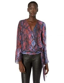 Parker Women s Isabella Bell Sleeve Wrap Blouse at Amazon