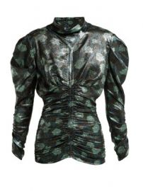 Parman floral-print silk-blend ruched top at Matches