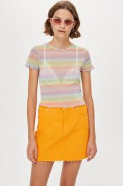 Pastel Rainbow T-Shirt at Topshop