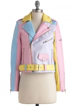 Pastel colorblock jacket at Modcloth at Modcloth
