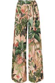 PatBO - Paradise printed stretch-crepe wide-leg pants at Net A Porter