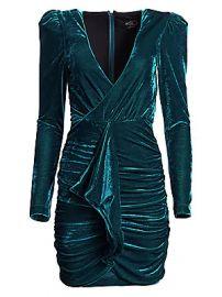 PatBO - Velvet Ruched Mini Dress at Saks Fifth Avenue