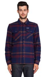 Patagonia Insulated Fjord Flannel Jacket in Comstock and Dark Currant  REVOLVE at Revolve