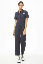 Patch Graphic Zip-Front Utility Jumpsuit at Forever 21