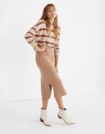 Patch Pocket Sweater Skirt at Madewell