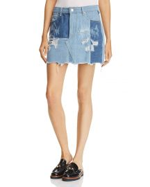 Patched Denim Skirt by Sunset & Spring at Bloomingdales