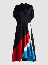 Patchwork Aki Wave Short Sleeve Midi Dress at The Modist